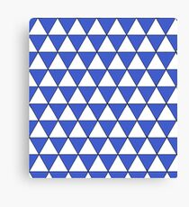 blue and white triangles Canvas Print