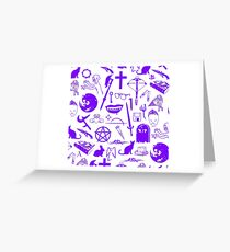 Buffy Symbology - Purple Greeting Card