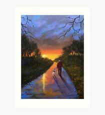 A walk till Midnight Art Print