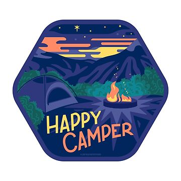 Happy Camper by BlueAsterStudio