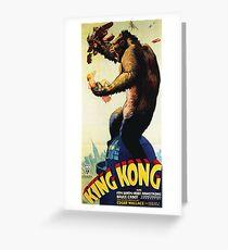 King Kong - vintage horror movie poster Greeting Card