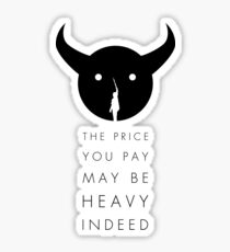 Shadow of the Colossus - Price black Sticker