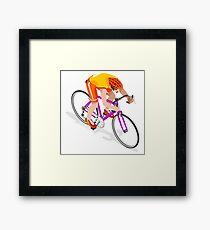 Road Cycling Cyclist Rider Sport Framed Print