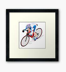 Track Cycling Cyclist Rider Sport Framed Print