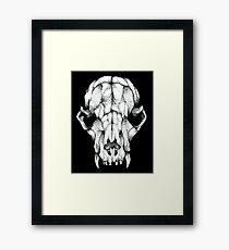 Rat skull drawing (30 000 dots) Framed Print