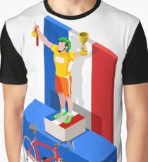 Tour France Cycling Race Sport Graphic T-Shirt