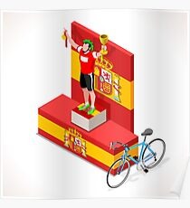 Vuelta Espana Cycling Race Sport Poster