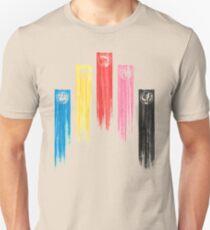 Power Rangers - Original 5 Team Streaks T-Shirt