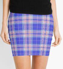 TARTAN-BLUE Mini Skirt
