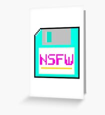 NSFW floppy Greeting Card