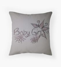 Baby Girl Throw Pillow