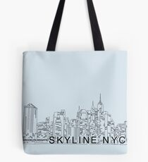 Line Skyline NYC Tote Bag