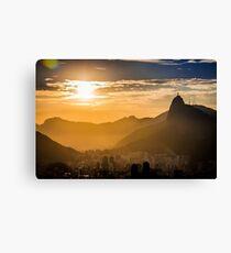 Rio De Janerio Sunset Canvas Print