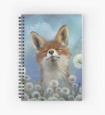 Dandelion fox Spiral Notebook