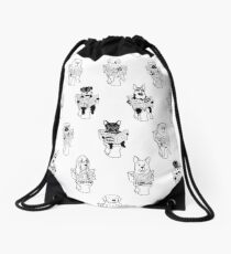 Morning Constitutional Drawstring Bag