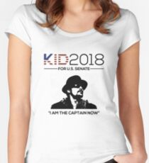 Kid For Senate 2018 In Rock We Trust Women's Fitted Scoop T-Shirt