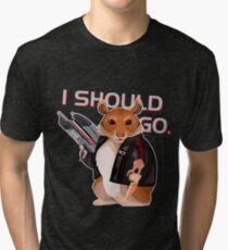 Space Hamster Mass Effect Tri-blend T-Shirt