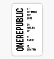 OneRepublic Albums Sticker