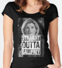 Straight Outta Gallifrey- Whittaker Women's Fitted Scoop T-Shirt