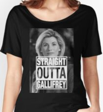 Straight Outta Gallifrey- Whittaker Women's Relaxed Fit T-Shirt