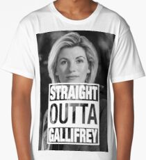 Straight Outta Gallifrey- Whittaker Long T-Shirt