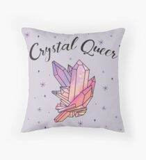Crystal Queer Throw Pillow