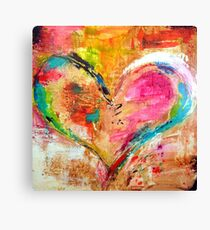painted heart Canvas Print