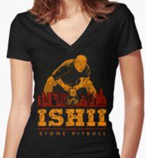 Tomohiro Ishii - Kong Pitbull T-Shirt Women's Fitted V-Neck T-Shirt