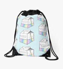 Artist Tears Milk Carton Drawstring Bag