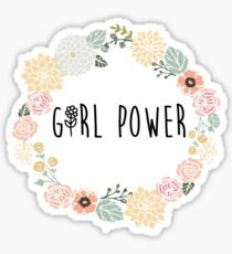 girl power flower power Sticker