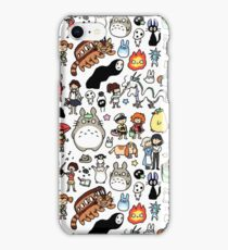 Kawaii Ghibli Doodle iPhone Case/Skin