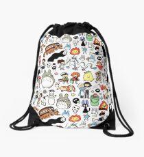 Kawaii Ghibli Doodle Drawstring Bag