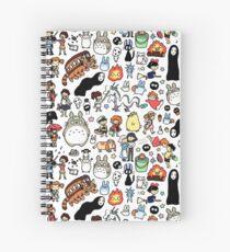 Kawaii Ghibli Doodle Spiral Notebook