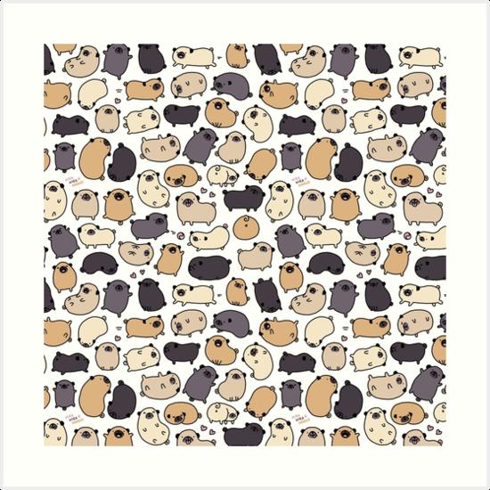 «Pug Life Doodle» de KiraKiraDoodles