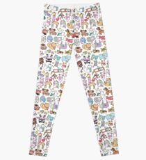 Winter Animals with Scarves Doodle Leggings
