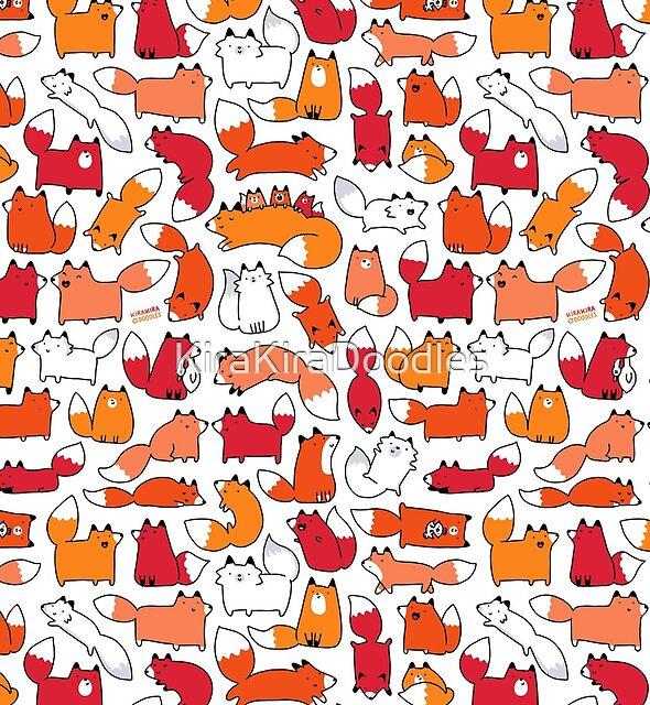 Foxy Foxes by KiraKiraDoodles