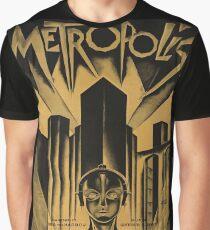 Camiseta gráfica Metropolis, Fritz Lang, 1926 - cartel de película vintage, b & w