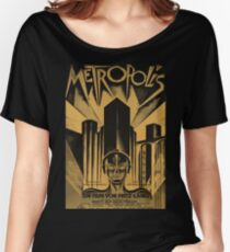Metropolis, Fritz Lang, 1926 - vintage movie poster, b&w Women's Relaxed Fit T-Shirt