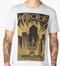 Metropolis, Fritz Lang, 1926 - vintage movie poster, b&w Men's Premium T-Shirt