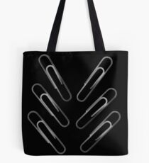 Paper Clips With Scissors Tote Bag