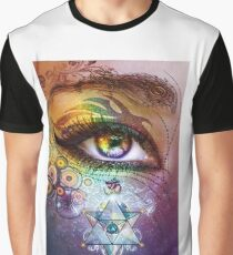 Rainbow Eye: Love and Light Graphic T-Shirt