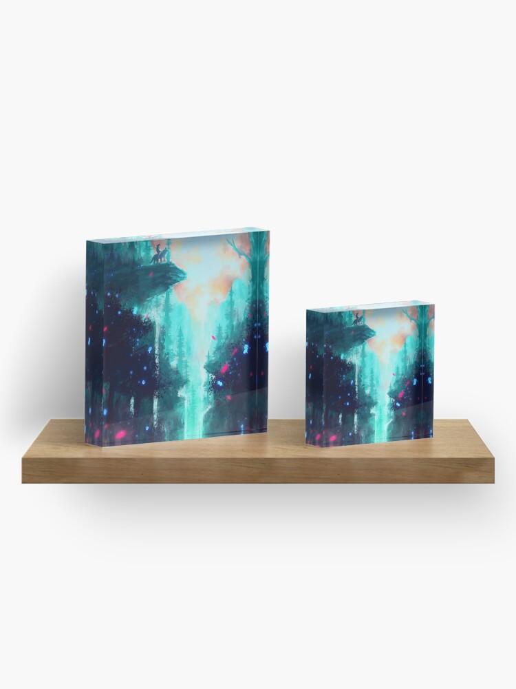 Alternate view of Mononoke Forest Acrylic Block