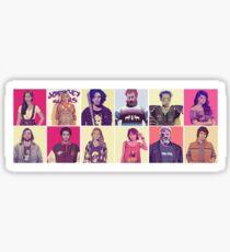 GoT GTA Throwback Collage North Mix Sticker
