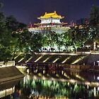 China. Xian. City Wall. Watchtower & Moat. by vadim19