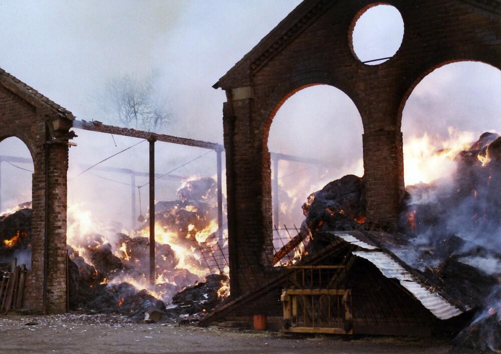 Barn Fire  2 by MayWebb