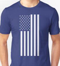 American Flag, White Stars, Vertical Unisex T-Shirt
