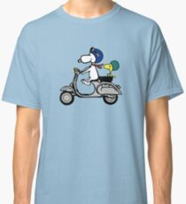 Snoopy and Woodstock on a Vespa Classic T-Shirt