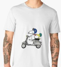 Snoopy and Woodstock on a Vespa Men's Premium T-Shirt