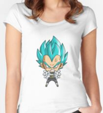 Vegeta God Blue Chibi Women's Fitted Scoop T-Shirt