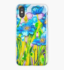 Blue Poppies 2 Belize iPhone Case/Skin